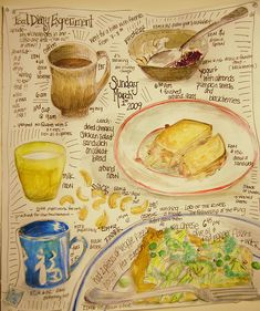 food diary from sketchbookbuttons... some folks maintain  a journal/diary of food eaten... daily. This person says it kept her from eating so much junk food.