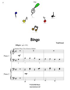 Blissful Fish Piano Sheet Music Solo First Page Sample Of A