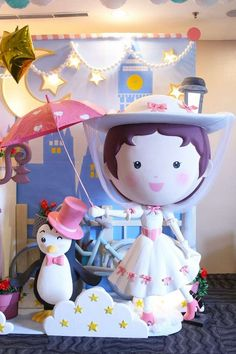 Love these decorations at a Mary Poppins birthday party! See more party ideas at CatchMyParty.com!