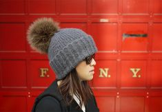 D.I.Y. Pom Pom Beanie.   Yes please!? I can already see myself making ridiculous amount of these things.