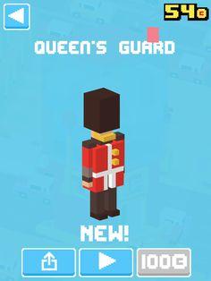 Just unlocked Queen's Guard! #crossyroad