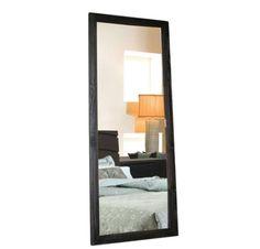Espelho de Chão / Linha Daisy-Preto/Café - Escovado