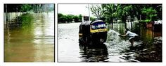 #Pune Mutha swells with water from 3 dams.
