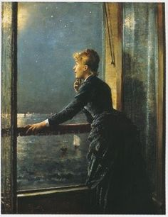 Alfred Stevens (Belgium, 1828-1906) Looking Out at the Sea
