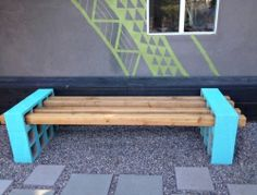 Cheap Creative DIY Outdoor Projects | DIY Cinder Block Outdoor Bench