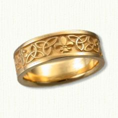 Fleurdelis Wedding Rings affordable unique Wedding Bands by