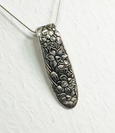 """Cuchara vintage collar, colgante de la cuchara, """"Narciso"""" 1935, joyería de plata"""
