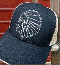 Rhinestone Chief Hat Trucker Style $12.99 http://www.dumbblondeboutique.com/rhchhattrst.html