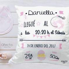 COJÍN NACIMIENTO ROSA Bed Pillows, Pillow Cases, Babyshower, Bb, Throw Pillows, Pink, Boyfriend Stuff, Boyfriends, Funny Pregnancy