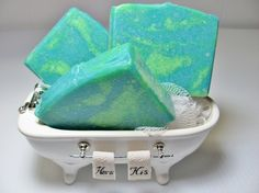 Green and blue soap - wedding favours