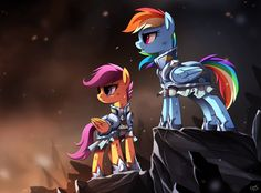 """""""It's dangerous out there. You'll stay with me?"""" """"Until the very end, kiddo."""" --- It's war, a lot of ponies are dead and all princesses have disappeared. Scootaloo is all grown up now and together ..."""