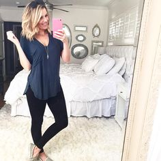 You can access more content by visiting the site. Have fun. Lush Knit Tee, leggings c/o asos, Baublebar Arrowhead Pendant. Lazy Day Outfits, Cute Summer Outfits, Cool Outfits, Casual Outfits, Fashion Outfits, Women's Fashion, Capsule Wardrobe 2018, Leggings Outfit Summer, Legging Outfits