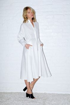 White Linen Long Shirt Dress - white is probably a really bad idea for me