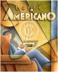 Art Deco ad - CAPRI COFFEE
