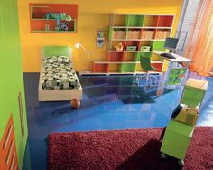 Colorful Childern Bedroom with Aluminum Curtains