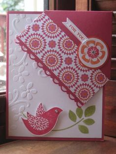 Simple card with coordinating corner bookmark by mommacharles - Cards and Paper Crafts at Splitcoaststampers