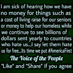 Or giving my hardworking taxes to ILLEGAL IMMIGRANTS and deadbeats in my own country
