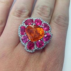 Campbellian Collection with this spinel and mandarin garnet ring…