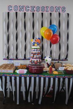 "Photo 9 of 23: Sports / Birthday ""My boys turn 3 & 1 Sports party!"" | Catch My Party"