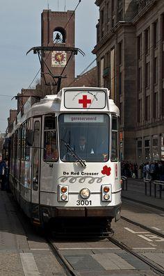 nederlandse ltrams,red cross tram Amsterdam
