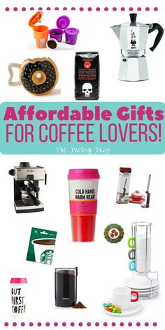 These are the cutest gifts for coffee lovers! Fun and affordable gifts that every coffee lover needs to have!