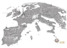 The City of Europe  -  Jeff Murray -I saw this in Bath and it's wonderful, it took 35 pens and 3 months!