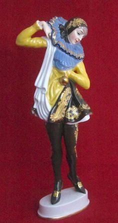 Rosenthal Porcelain Figurine Pierrette Dancer. 1920's  #ArtDeco #Rosenthal