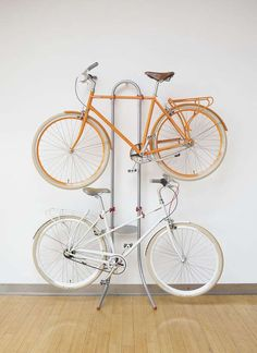Functional bike storage for the basement