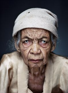 FORCED PROSTITUTION Jan Banning photography - Wainem, b. 1925, one of a number of Indonesian women who were victims of forced sexual labour by the Japanese during World War II.