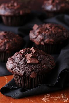 Muffins de chocolate EXTRA chocolateados #muffins