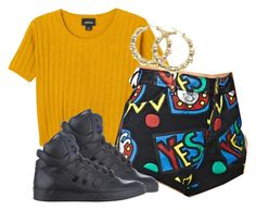 """""""thanks for nothing though."""" by nikkithasixg0dess ❤ liked on Polyvore featuring Monki, Lazy Oaf and adidas Originals"""