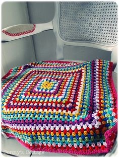 granny square blanket. I've made one like this before. A fun and easy project.