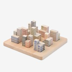 A beautifully designed toy that can be enjoyed by all ages to create a different skyline every time you build. Fun for buddy architects. Eco-certified and crafted from solid wood from renewable source