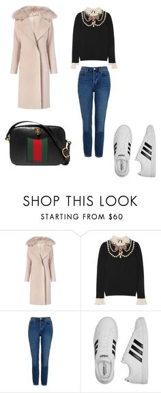 """Ootd"" by phamthuquynh on Polyvore featuring Diane Von Furstenberg, Gucci, Topshop and adidas"