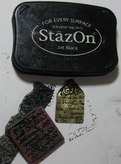 Etching Metal - very detailed how-to on etching metal with rubber stamp images...