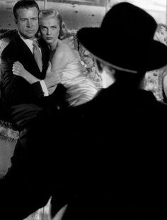 Dick Powell, Lizabeth Scott, and Raymond Burr in Pitfall (1948, dir. André de…