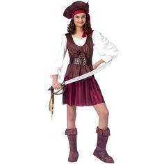 High Seas Buccaneer Girls Costume