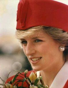 November 9, 1985: Princess Diana arriving at Andrews Air ForceBase, Maryland, U.S.A.