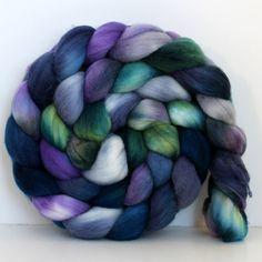 MORNING GLORY  Merino Wool Top Roving 4oz by SpunRightRound, $16.00