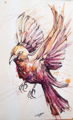 Behance Bird Illustration, Crafts, Drawing