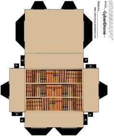 Cubee - Bookcase by CyberDrone.deviantart.com on @deviantART