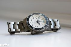 Beautiful photo of the white dial Hamtun Kraken titanium dive watch. Affordable Automatic Watches, Best Affordable Watches, Automatic Watches For Men, Fine Watches, Sport Watches, Cool Watches, Stylish Watches, Best Sports Watch, Cheap Watches For Men