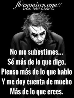 Joker Frases, Joker Quotes, Tumblr Quotes, Me Quotes, Narcos Quotes, Quotes En Espanol, Missing You Quotes, Spanish Quotes, Relationship Goals