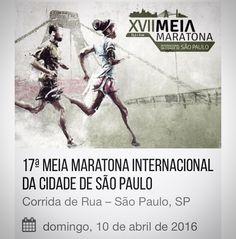 Domingo vai rolar a XVII Meia Maratona Internacional da cidade de São Paulo e eu vou participar!!! Ainda tem inscrição aberta se você topa o desafio! http://ift.tt/1V9GG1h (Não é propaganda)