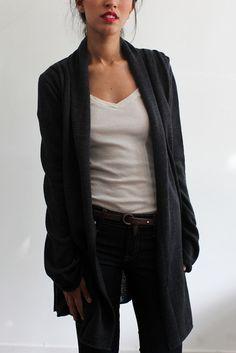 Heather Merino Wool Cardigan by Souchi