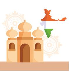 Tricolor indian flag map background for republic Vector Image Happy Independence Day India, Indian Flag, Map Background, Flag Photo, Taj Mahal, Vector Free, Web Design, Illustration, Artwork