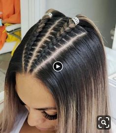 Cool Braid Hairstyles, Easy Hairstyles For Long Hair, Baddie Hairstyles, Braids For Long Hair, Pretty Hairstyles, Hairstyle Ideas, Crazy Hairstyles, Latina Hairstyles, Fashion Hairstyles