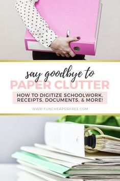 Have a lot of paper clutter at your house? If you do, don't stress! Today, I'm sharing how to digitize your papers and organize those important documents that you actually need to keep. Picture Frame Display, Paper Organization, Organization Ideas, Important Documents, Paper Clutter, Paper Trail, Filing System, Display Boxes, How To Get Rid