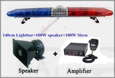 188.97$  Buy here - http://alih19.worldwells.pw/go.php?t=32723708776 - High quality140cm DC12 184W Halogen Rotate warning lightbar for police ambulance fire+100W speaker+100W siren,waterproof