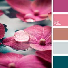 Brown Color Palettes, color, color matching, color palettes for decoration, colors for decoration, fuchsia, indian red, magenta, pale cornflower blue, palette for designer, Pink Color Palettes, shades of pink, slate-gray.